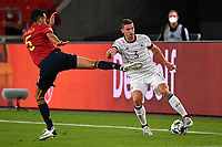 3rd September 2020; Stuttgart, Germany; UEFA Nations League football, Germany versus Spain; Robin GOSENS GER, challenged by Sergio BUSQUETS ESP