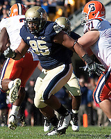 Pittsburgh defensive lineman Mick Williams. The Pittsburgh Panthers defeated the Syracuse Orange 37-10 at Heinz Field, Pittsburgh Pennsylvania on November 7, 2009..
