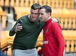 St Johnstone v Sunderland…15.07.17… McDiarmid Park… Pre-Season Friendly<br />John O'Shea poses for a photo with a fan during the warm up<br />Picture by Graeme Hart.<br />Copyright Perthshire Picture Agency<br />Tel: 01738 623350  Mobile: 07990 594431