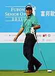 TAIPEI, TAIWAN - NOVEMBER 20:  Lu Chien Soon of Taiwan tees off on the 10th hole during day three of the Fubon Senior Open at Miramar Golf & Country Club on November 20, 2011 in Taipei, Taiwan. Photo by Victor Fraile / The Power of Sport Images