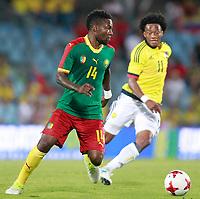 Colombia's Juan Guillermo Cuadrado (r) and Cameroon's Georges Mandjeck during international friendly match. June 13,2017.(ALTERPHOTOS/Acero) (NortePhoto.com) (NortePhoto.com)