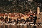 .Vis Island. Komiza harbour..Cruise in Croatia. Island of Dalmatia