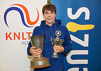 Rotterdam, The Netherlands, March 20, 2016,  TV Victoria, NOJK 14/18 years, Winner boys 18 years: Ryan Nijboer (NED)<br /> Photo: Tennisimages/Henk Koster