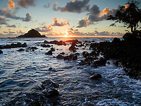 Sunrise from Koki beach. Hana, Maui.