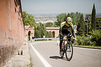 race preparations: Christopher Juul-Jensen (DEN/Mitchelton-Scott) checking the TT prologue course that ends with a (very) steep 2 km climb to the Sanctuary of San Luca (in Bologna), ahead of the 102nd Giro d'Italia 2019<br /> <br /> ©kramon