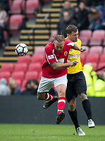 Calum Best & Dan Osborne during the Sellebrity Soccer - Celebrity & legends football match with profits going to Watford Community sports & education trust at Vicarage Road, Watford, England on 12 May 2018. Photo by Andy Rowland.