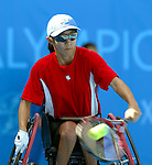 Yuka Chokyu de Vancouver Bc,  tennis en double à Athènes.<br /> (Benoit Pelosse photographe,)
