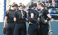 Bentonville huddle before 7th inning at Rogers High School, Rogers, Arkansas, on Tuesday, April 6, 2021 / Special to NWA Democrat Gazette