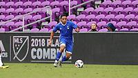 Orlando, Florida - Saturday January 13, 2018: Niko DeVera. Match Day 1 of the 2018 adidas MLS Player Combine was held Orlando City Stadium.