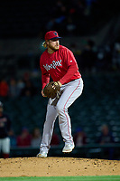 Worcester Red Sox pitcher Kaleb Ort (33) during a game against the Rochester Red Wings on September 3, 2021 at Frontier Field in Rochester, New York.  (Mike Janes/Four Seam Images)