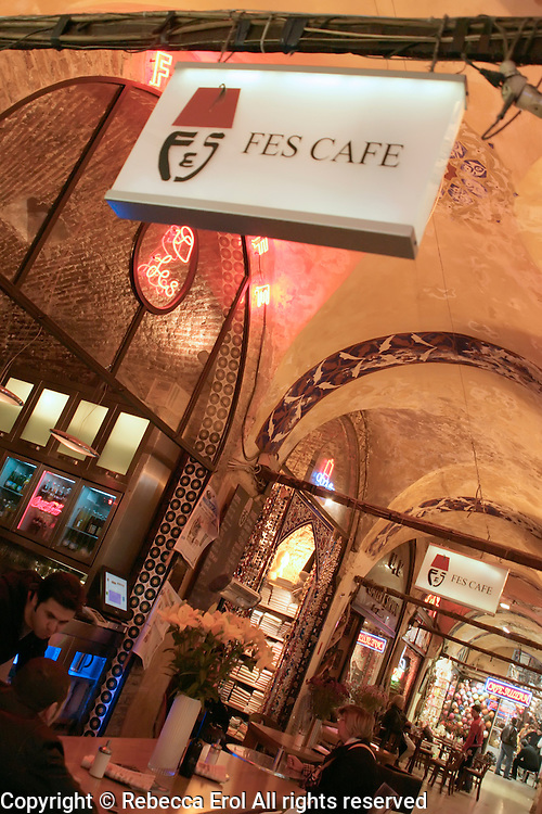 Fes Cafe at the Grand Bazaar in Istanbul, Turkey