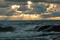 Looking out to sea from Isokari Island off Southwestern Finland near Uusi Kaupunki.