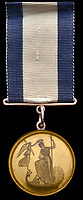 Prestigious gold medal awarded to Admiral Lord Nelson's adored naval protégé.