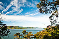 Looking into Grove Arm of Queen Charlotte Sound near Picton - Marlborough, New Zealand