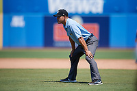Umpire Robert Nunez during a game between the Daytona Tortugas and the Dunedin Blue Jays on April 22, 2018 at Dunedin Stadium in Dunedin, Florida.  Daytona defeated Dunedin 5-1.  (Mike Janes/Four Seam Images)