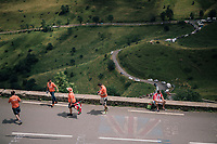 Bask fans up the Col de Val Louron-Azet <br /> <br /> Stage 17: Bagnères-de-Luchon > Saint-Lary-Soulan (65km)<br /> <br /> 105th Tour de France 2018<br /> ©kramon