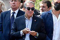 Maurizio Gasparri of Fratelli d Italia right party attends an electoral campaign press conference for the mayoral election in Spinaceto, a peripheral neighborhood in the west of Rome on October 1st 2021. Photo Andrea Staccioli Insidefoto