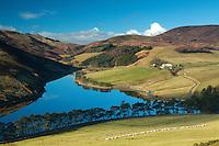 Glencorse Reservoir from the slopes of Castlelaw, The Pentland Hills Regional Park, Lothian