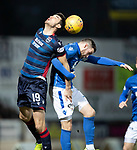 St Johnstone v Ross County…..29.12.19   McDiarmid Park   SPFL<br />Brian Graham and Anthony Ralston<br />Picture by Graeme Hart.<br />Copyright Perthshire Picture Agency<br />Tel: 01738 623350  Mobile: 07990 594431