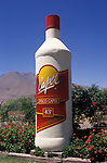 Advertising display for Pisco the national drink of Chile South America at Pisco Elqui 2000s