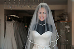 Royal Wedding of Prince Harry and Megham Markle, 19th May 2018. Windsor Berkshire. Local Windsor wedding dress shop cashing in on the wedding.
