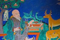 Mural at Thiksey Monastery near Leh, Ladakh