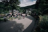 Race leaders Nils Politt (DEU/Katusha-Alpecin) & Nathan Brown (USA/Cannondale-Drapac) on the 3rd cat climb; the Côte d'Eschdorf (2.3km @ 9.3%)<br /> <br /> 104th Tour de France 2017<br /> Stage 3 - Verviers › Longwy (202km)