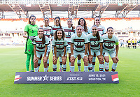 HOUSTON, TX - JUNE 13: Portugal poses for their starting XI photo before a game between Nigeria and Portugal at BBVA Stadium on June 13, 2021 in Houston, Texas.