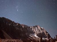 Starry night on Capitol Peak, near Snowmass, Colorado
