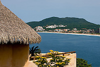 Thatched roofs and stucco walls help give Ixtapa an upscale resort feel. (photo taken August 2007) Photo by Patrick Schneider Photo.com