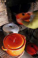 Europe/France/Pays de la Loire/85/Vendée/Ile d'Yeu/La Meule: Cuisson du fricot dans le four à pain de Marie