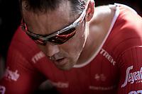 Markel Irizar (ESP/Trek Segafredo) pre race warming up. <br /> <br /> Binckbank Tour 2018 (UCI World Tour)<br /> Stage 2: ITT Venray (NL) 12.7km