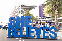 Orlando, FL - Wednesday March 07, 2018: USWNT fan at the U.S. Soccer Festivities during the She Believes Final Cup Match featuring USA Women's National Team vs. Englands Women's National Team