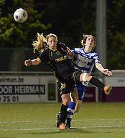 AA Gent - Telstar :<br /> <br /> duel tussen Priscilla Mesker (L) en Evelien Van Sinay (R)<br /> <br /> foto Dirk Vuylsteke / Nikonpro.be