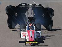Feb. 23, 2013; Chandler, AZ, USA; NHRA top fuel dragster driver Doug Kalitta during qualifying for the Arizona Nationals at Firebird International Raceway. Mandatory Credit: Mark J. Rebilas-