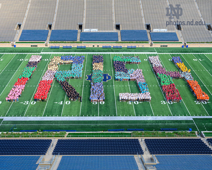 August 24, 2019; University of Notre Dame Class of 2023 (Photo by Barbara Johnston/University of Notre Dame)
