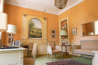 One of the reception rooms in the chateau  Chateau de Haux Premieres Cotes de Bordeaux  Entre-deux-Mers  Bordeaux Gironde Aquitaine France