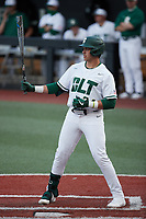David McCabe (24) of the Charlotte 49ers at bat against the Old Dominion Monarchs at Hayes Stadium on April 23, 2021 in Charlotte, North Carolina. (Brian Westerholt/Four Seam Images)
