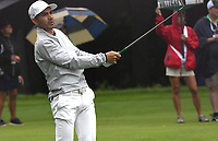 11th July 2021, Silvis, IL, USA; Camilo Villegas follows the progress of his ball after hitting his second shot on the #6 fairway during the final round of the John Deere Classic on July 11, 2021, at TPC Deere Run, Silvis, IL.