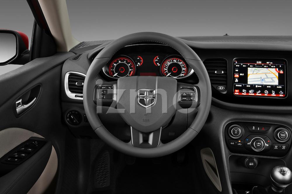 Steering wheel photo of a 2013 Dodge Dart Rallye sedan