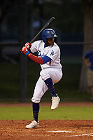 AZL Dodgers Mota Luis Yanel Diaz (7) at bat during an Arizona League game against the AZL Rangers at Camelback Ranch on June 18, 2019 in Glendale, Arizona. AZL Dodgers Mota defeated AZL Rangers 13-4. (Zachary Lucy/Four Seam Images)