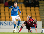Dave Mackay Testimonial: St Johnstone v Dundee…06.10.17…  McDiarmid Park… <br />Denny Johnstone and Barry Smith<br />Picture by Graeme Hart. <br />Copyright Perthshire Picture Agency<br />Tel: 01738 623350  Mobile: 07990 594431