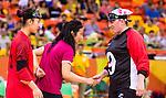 Nancy Morin, Rio 2016 - Goalball. <br /> Team Canada competes in Women's Goalball preliminary against China // Équipe Canada participe aux préliminaires du goalball féminin contre la Chine. 12/09/2016.