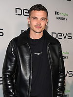 "LOS ANGELES - MARCH 2: Karl Glusman attends the premiere of the new FX limited series ""Devs"" at ArcLight Cinemas on March 2, 2020 in Los Angeles, California. (Photo by Frank Micelotta/FX Networks/PictureGroup)"