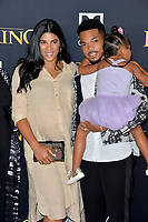 "LOS ANGELES, USA. July 10, 2019: Chance the Rapper, Kirsten Corley & Kensli Bennett at the world premiere of Disney's ""The Lion King"" at the Dolby Theatre.<br /> Picture: Paul Smith/Featureflash"