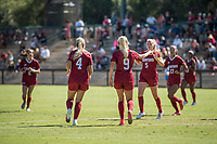 STANFORD, CA - SEPTEMBER 12: Belle Briede and Astrid Wheeler during a game between Loyola Marymount University and Stanford University at Cagan Stadium on September 12, 2021 in Stanford, California.