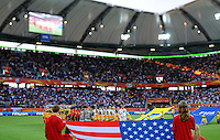 Opening ceremony for team USA during the FIFA Women's World Cup at the FIFA Stadium in Wolfsburg, Germany on July 6thd, 2011.