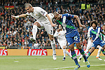 Real Madrid's Pepe (l) and WfL Wolfsburg's Naldo during Champions League 2015/2016 Quarter-finals 2nd leg match. April 12,2016. (ALTERPHOTOS/Acero)