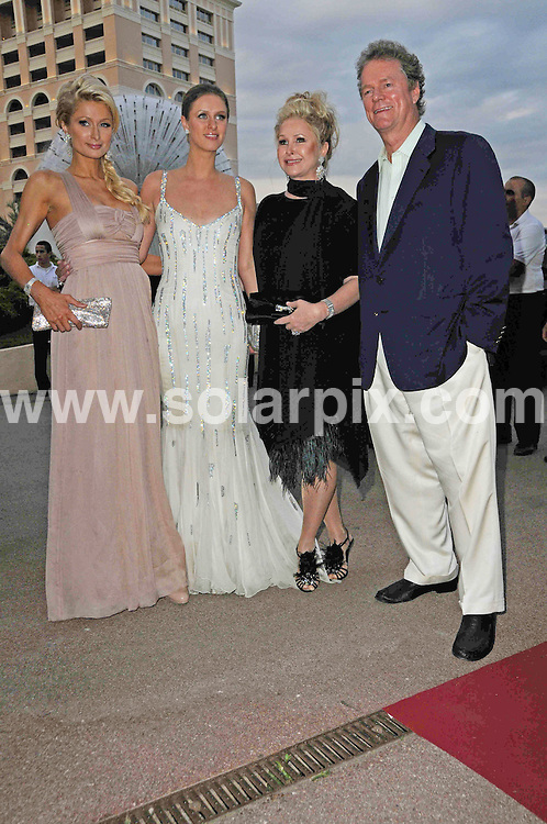 **ALL ROUND PICTURES FROM SOLARPIX.COM**.**WORLDWIDE SYNDICATION RIGHTS**.arrivals for the 2010 World Music Awards, Monte Carlo, Monaco. 18 May 2010..This pic: Paris Hilton, Nicky Hilton, Kathy Hilton and Rick Hilton..JOB REF: 11277 MSR    DATE: 18_05_2010.**MUST CREDIT SOLARPIX.COM OR DOUBLE FEE WILL BE CHARGED**.**MUST NOTIFY SOLARPIX OF ONLINE USAGE**.**CALL US ON: +34 952 811 768 or LOW RATE FROM UK 0844 617 7637**