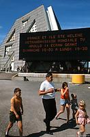 Annonce le retransmission en direct de la mission Apollo XI, juillet 1969, sur le site d'expo 67